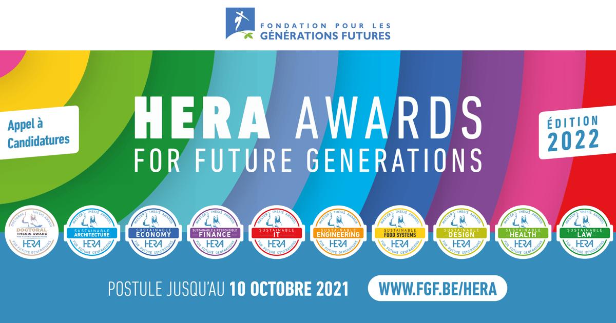 Appel à candidatures HERA Awards 2022